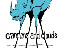 Cannons and Clouds Rhino Poster